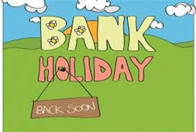 June Bank Holiday - closures.