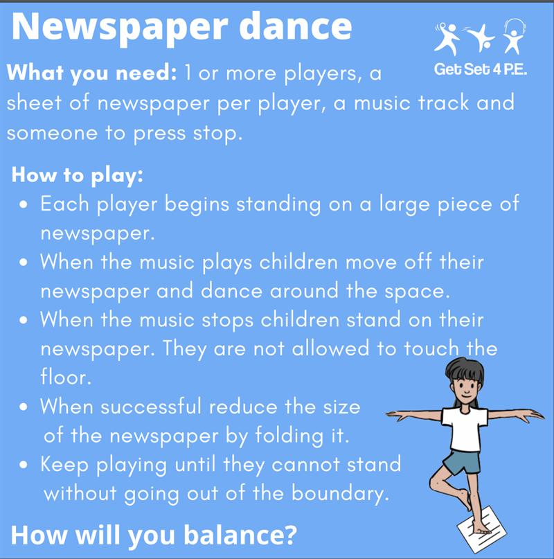 Newspaper Dance