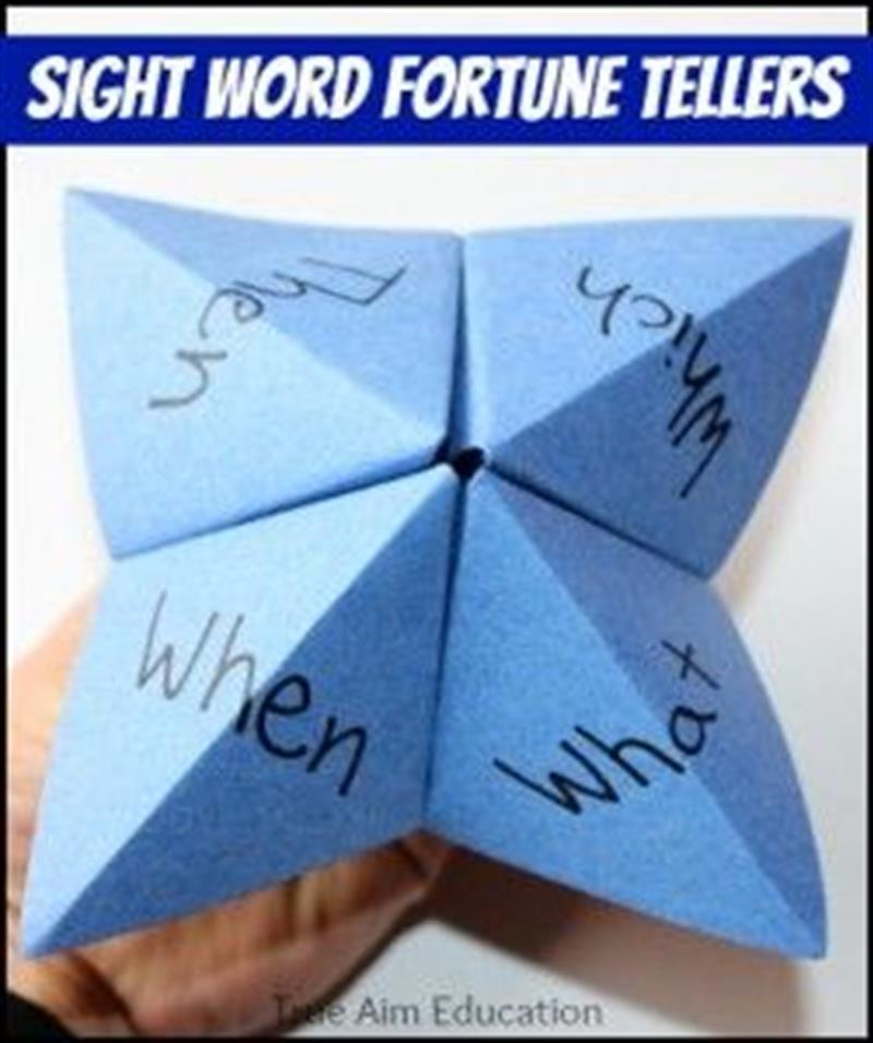 Sight word fortune teller paper activity.jpg