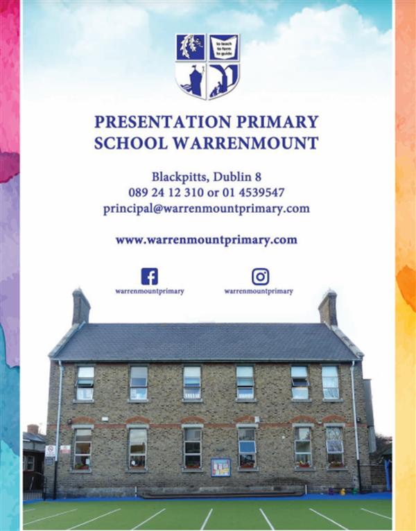Our Warrenmount School Calendar 2021